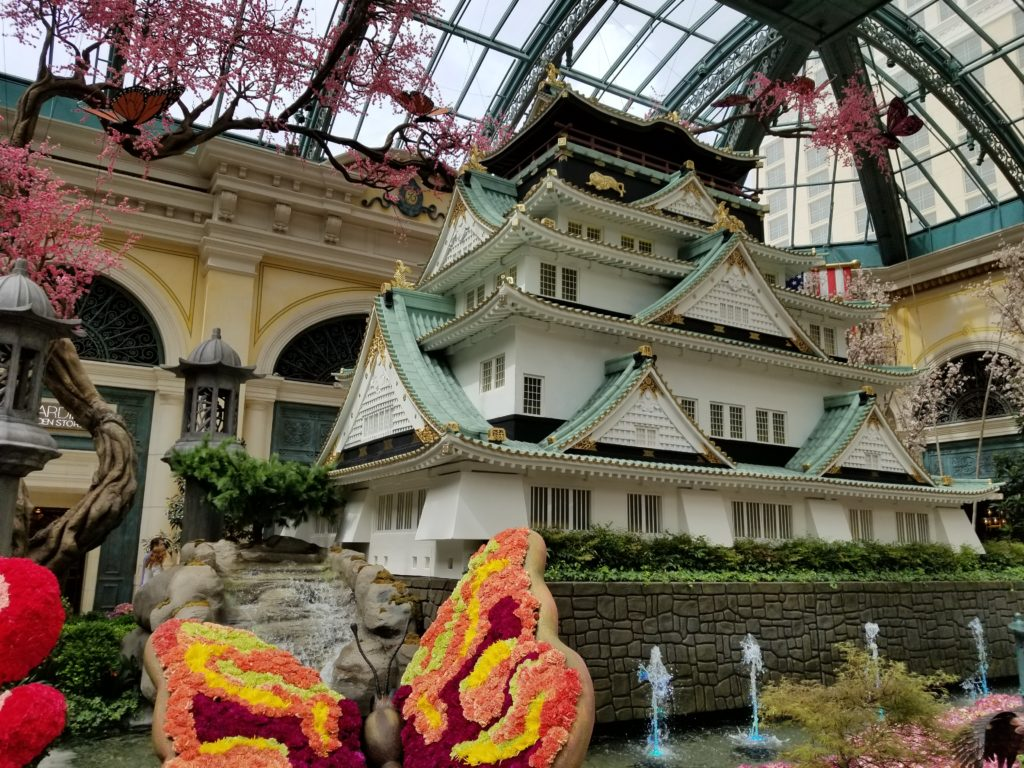 Japanese garden at the Bellagio
